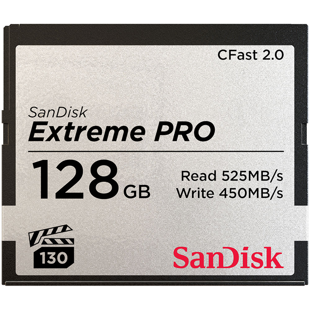 Sandisk Extreme Pro CFAST Card 2.0 128GB 525MB/S Image