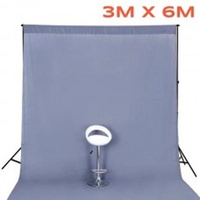 Grey Muslin Backdrop (Backdrop Only) Image