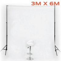 White Muslin Backdrop (Backdrop Only) Image